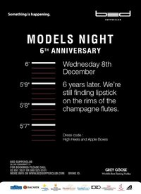 Models Night 6th Year Anniversary at Bed