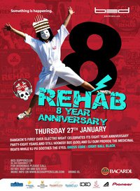 8th Year Anniversary REHAB at Bed Bangkok