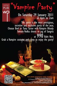 Vampire Party Night at Wine Pub