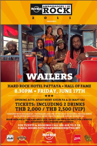 Pattaya with The Wailers